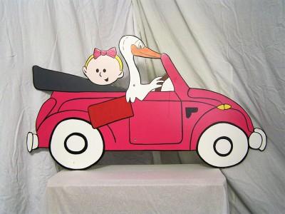 feestbordhuren_bord_geboorte_roze_auto