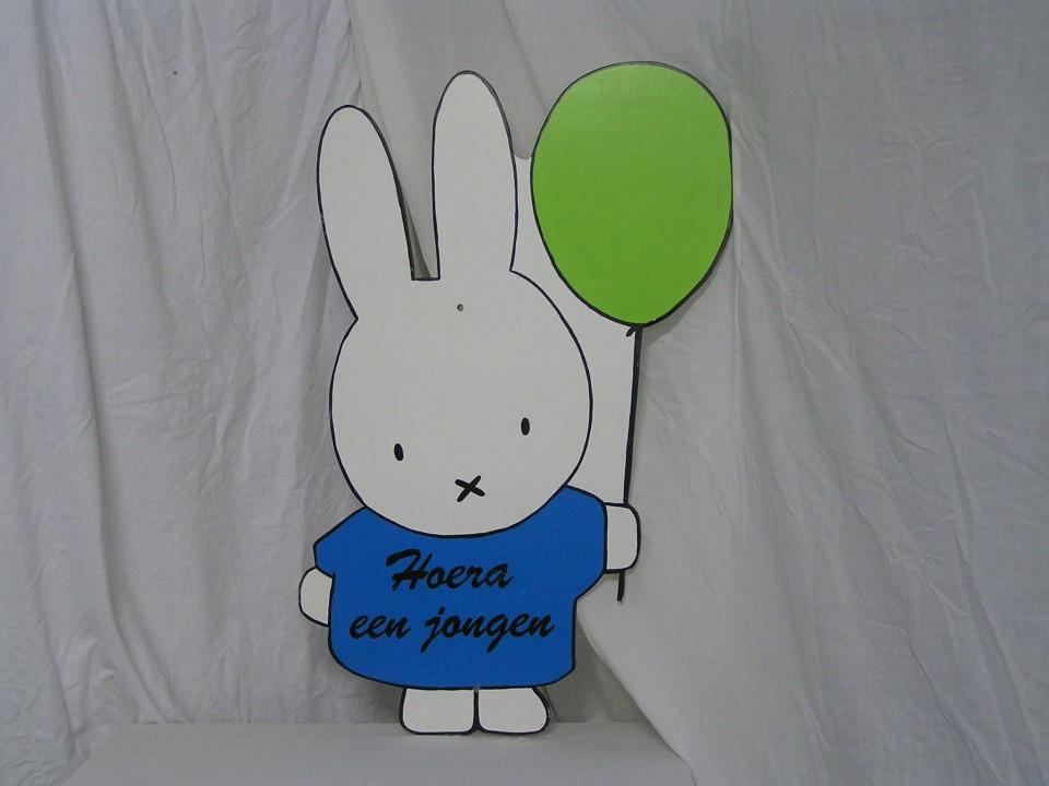 feestbordhuren_konijn_met_ballon