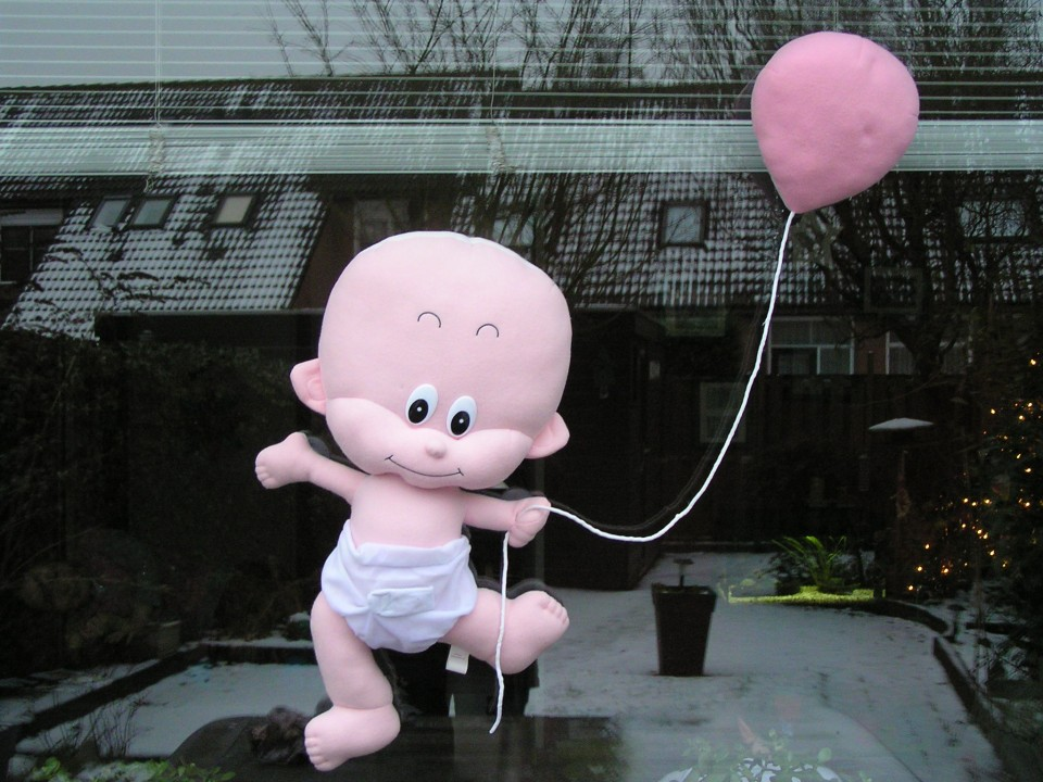 feestbordhuren_baby op raam